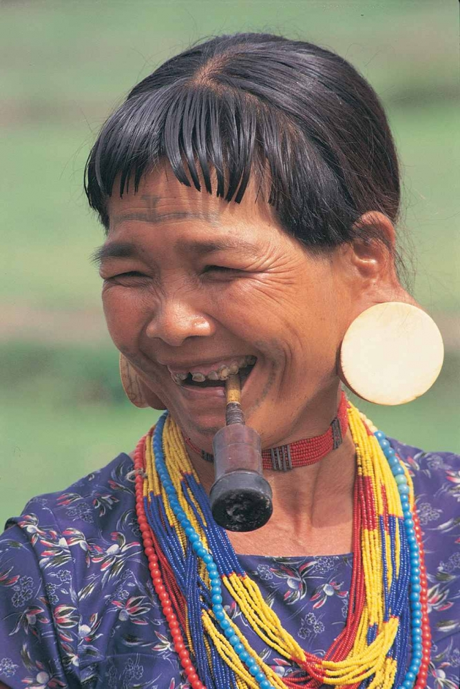 Local Lao woman wearing traditional clothes