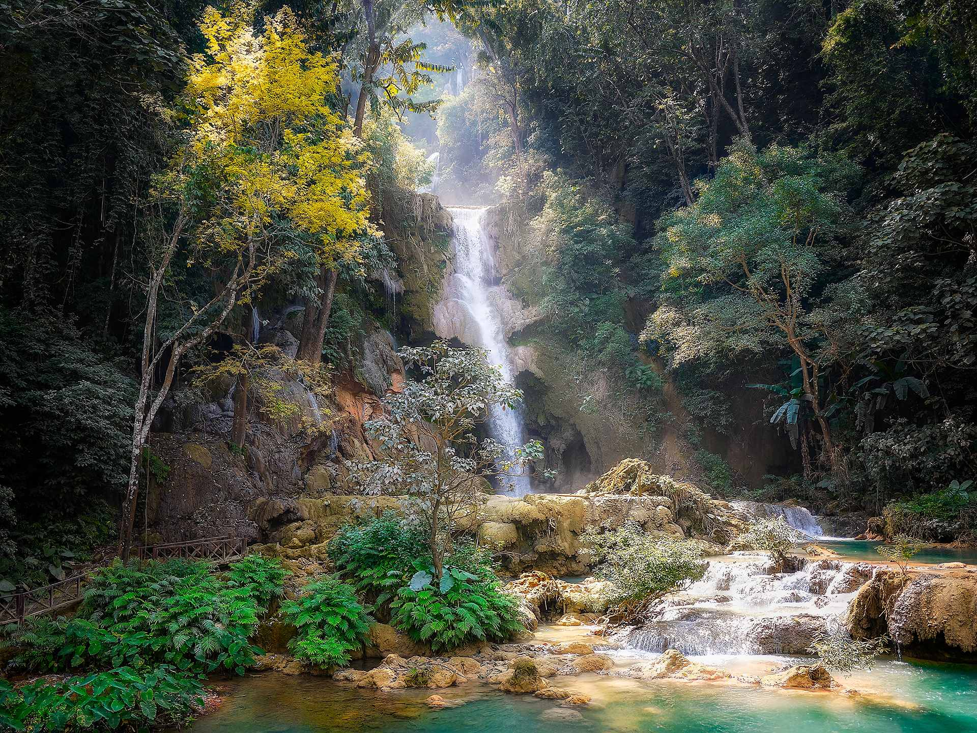 Majestic Kuang XI waterfalls