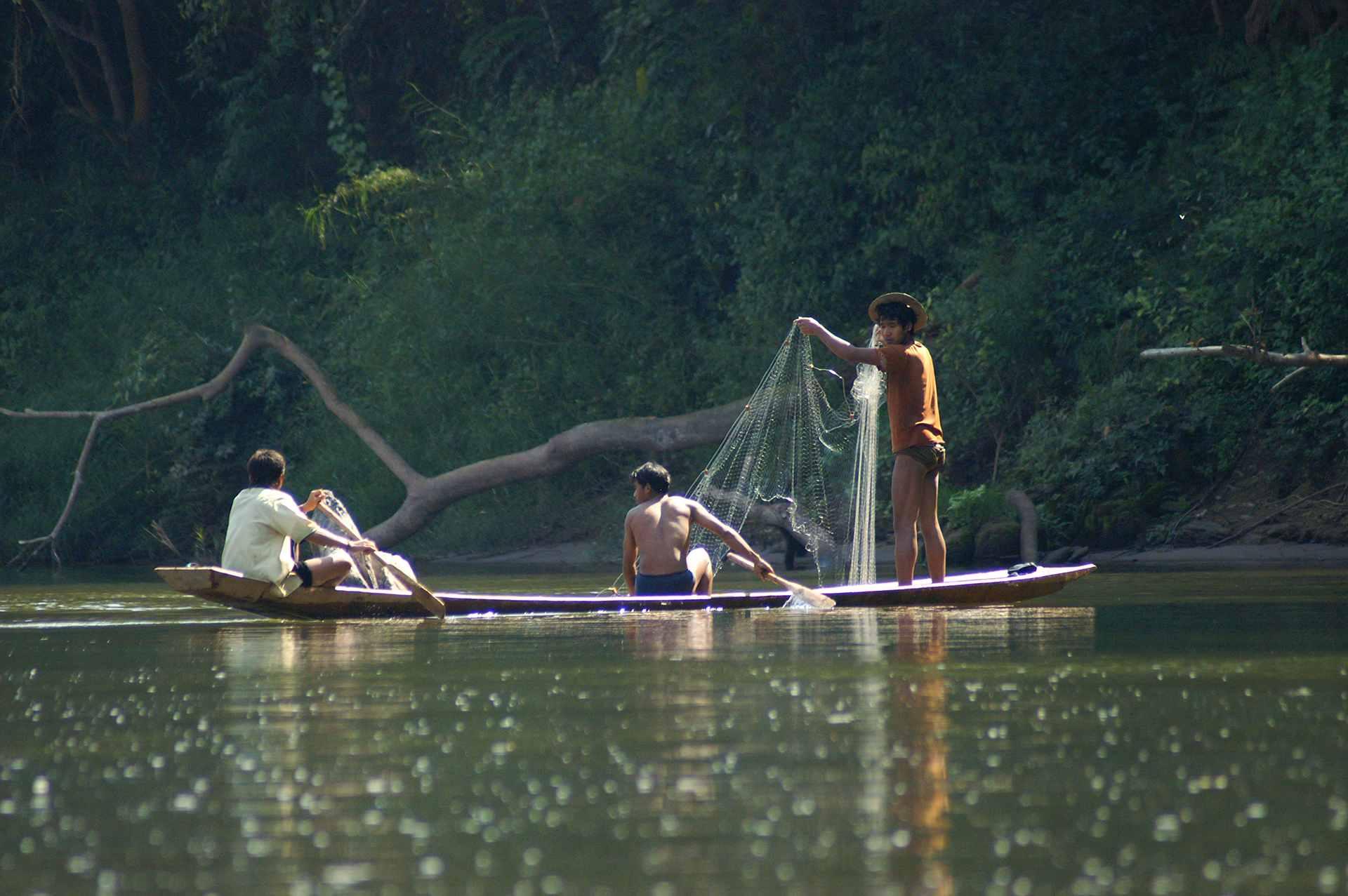 local people fishing
